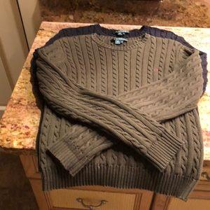 LAUREN Cotton Cabled Sweaters (2) Sz M